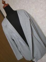 春秋ムルーア MURUA ジャケット サイズF グレー ジップアップ/ファスナー美品