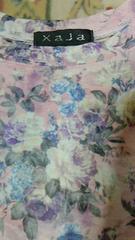 【XaJa】Aライン花柄Tシャツ/size M 未使用
