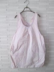 即決/W closet wears inc/バルーンデニムワンピース/ピンク/F