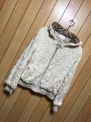 新品タグ付きmarna★ふわもこフード付きジャケット