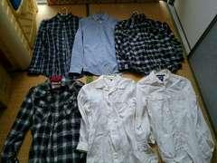 メンズシャツ6着セットsサイズ