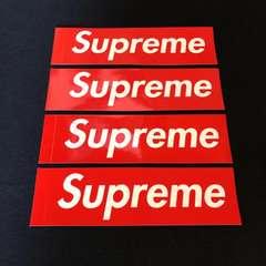 送料無料 Supreme ステッカー 4枚セット 非売品 ノベルティ