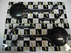 (977)CBX400F2CBX550FGS400CB400T新品Z�Uミラー黒ホーク