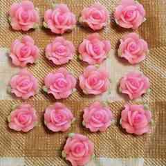 約1.3cm ☆ 17 コ ☆ ピンク 樹脂薔薇