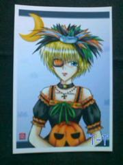 ■自作ポストカード/少女/かぼちゃ姫