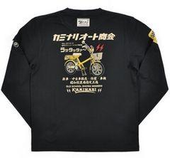 新作/カミナリ雷/ラッタッタ/ロンT/黒/M/KMLT-74/エフ商会/テッドマン