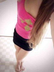 ☆愛用品★ぴちぴちなクロス柄ピンクキャミ☆