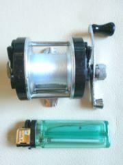 小型両軸タイヨーリール280JAPAN、右左交換巻、オールドリール中古品