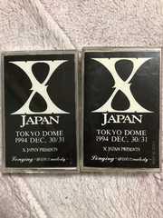 XJAPANの東京ドームツアーのカセットテープ2本セット