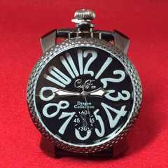 渋い黒★Club Face2★お洒落デザイン腕時計メンズ