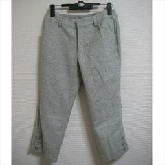 クランプリュス 短め丈ラメ混 パンツ 36