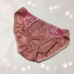 ・:*ピンク*おリボン&お花刺繍cute☆ショーツ*LL*