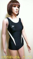 ★大きいO★SPEEDO★バイカラーの競泳水着1636★3点で即落★