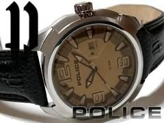 極美品 1スタ★ポリス/POLICE【大型】無骨なメンズ腕時計