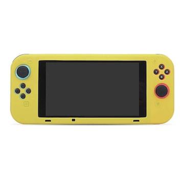 Nintendo Switch専用 シリコン ソフトケース イエロー