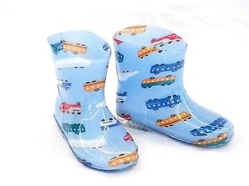 モンフレール レインブーツ 7008 16.0cm でんしゃブルー 長靴