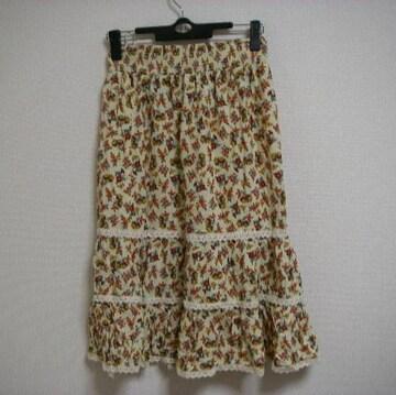 S-M トップショップ 花柄 長め丈 スカート