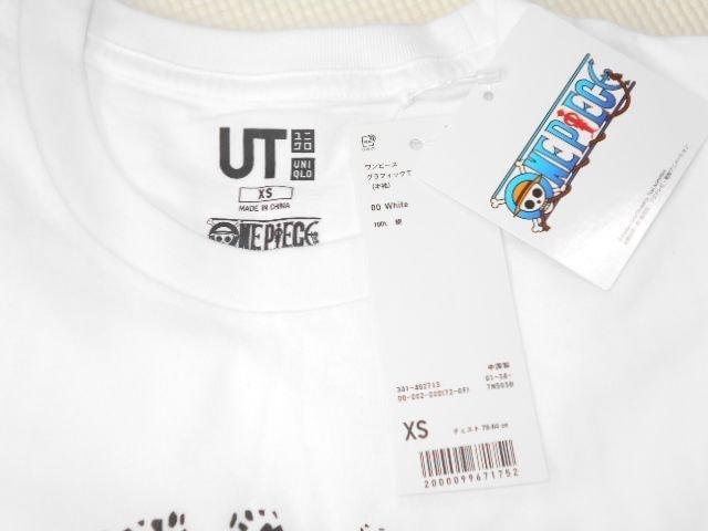 UNIQLO ONE PIECE ロー 半袖Tシャツ ホワイト XSサイズ < ブランドの