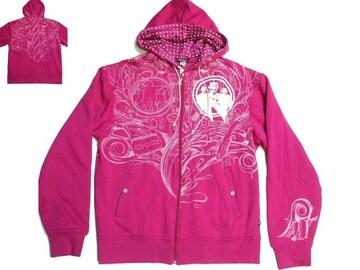 セール新品ArtfulDodgerアートフルドジャー★レア刺繍ジップパーカーLドット柄ピンク