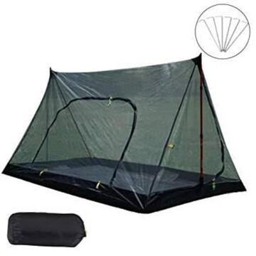 蚊帳(かや)Eletorot 超軽量携帯式テント 蚊除け網 キャンプ/ア