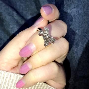 新品[7880](16号)ビッグリボンが可愛いリング指輪