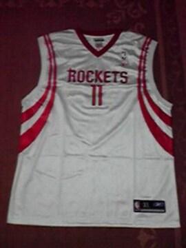 新品 NBA ROCKETS ゲームシャツ XL 白