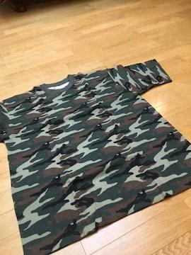 MUZI  迷彩柄 ワッフル素材  Tシャツ ウッド  sizeXL→XXL