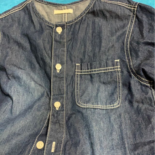 GU★kids★デニム半袖シャツ☆アメカジサイズ110 < ブランドの