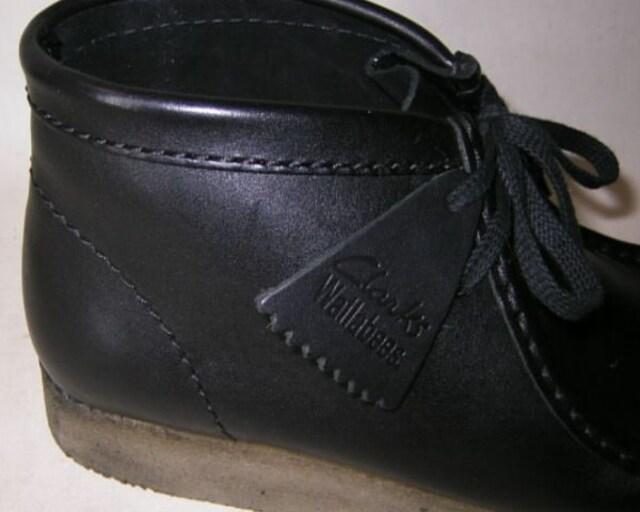 クラークスCLARKS新品WALLABEEワラビーブーツ26103666黒uk9.5 < 男性ファッションの