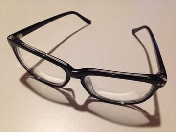送料無料 メガネ 伊達 ファッショングラス 黒縁 度なし