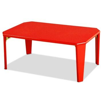 幅75cm 折りたたみ テーブル ローテーブル  レッド