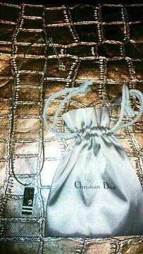 新品 Christian Dior ディオール トロッター柄 ネックレス 本物