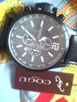 COGUITALYクロノグラフクオーツ腕時計新品同様定価32000円
