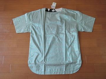 新品ポールスミスPaul SmithカットソーLラメチェック柄Tシャツ