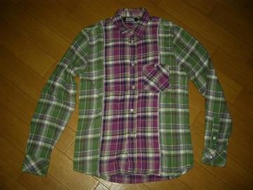 HYSTERIC GLAMOURヒステリックグラマー切替チェックシャツS