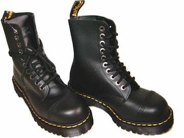 ドクターマーチンDrMartens厚底10ホールブーツ8761黒スチールUK4