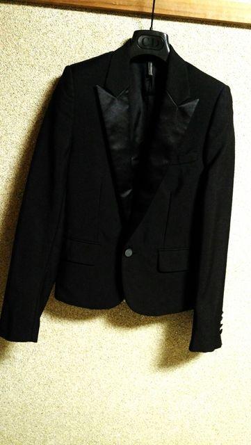 正規良 Dior Hommeディオールオム スモーキングチューブジャケット黒 最小40 スーツ 7H  < ブランドの