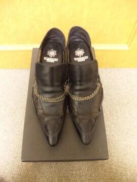 トルネードマート〓チェーン付シューズ靴〓黒/S〓TORNADO MART〓