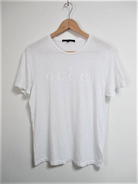 ☆GUCCI グッチ ロゴ Tシャツ/メンズ/S☆大人気モデル☆ホワイト  < ブランドの