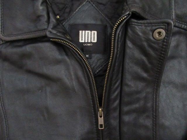 人気ブランド&良品★ウオモ/UNO UOMO★羊革/黒/M < 男性ファッションの