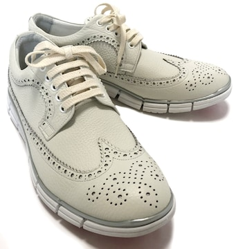 ヒロシツボウチウイングチップスニーカー靴メンズシュー