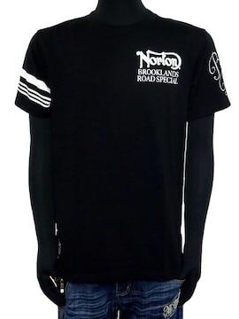 新品Norton吸水速乾袖ラインフロッキーTシャツブラックL