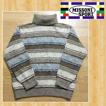 定価10万円 MISSONI SPORT ミッソーニ スポーツ イタリア製 ニットセーター 54