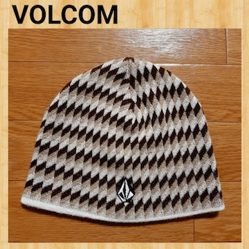 VOLCOM ボルコム ニットキャップ ビーニー 美品 CAP 柄