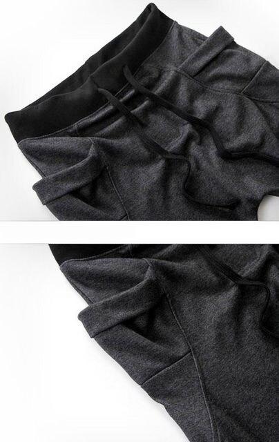 超人気★ジョガーパンツ スエット スリムフィット 紺  M < 男性ファッションの