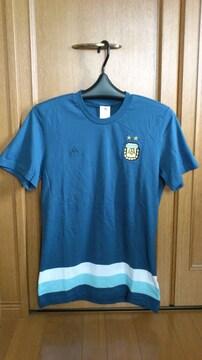 激安70%アルゼンチン代表、半袖Tシャツ(新品タグ、紺、L)