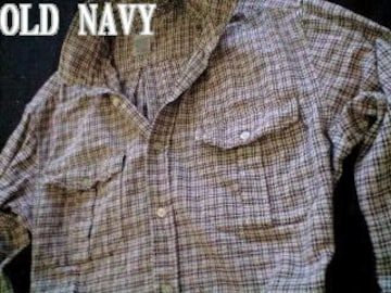 【OLD NAVY】オールドネイビー Vintage Washed フランネルシャツ M/Plaid