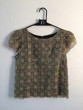 LagunaMoon 半袖刺繍トップス F