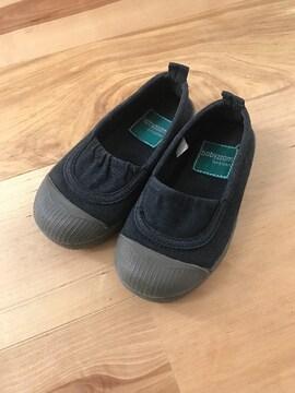 女の子靴スリッポン15�pスニーカー黒