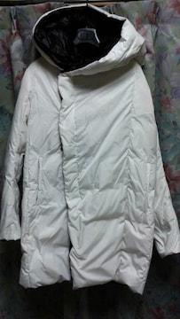 bajraバジュラダウンコートホワイト白2フードパーカ